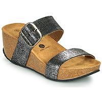 Παπούτσια Γυναίκα Τσόκαρα Plakton SO ROCK Black / Μεταλικό