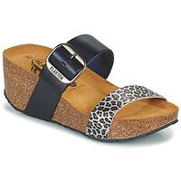 Παπούτσια Γυναίκα Τσόκαρα Plakton SO ROCK Μπλέ / Leopard