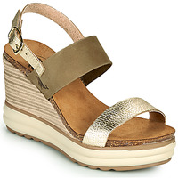 Παπούτσια Γυναίκα Σανδάλια / Πέδιλα Plakton PLAKA Kaki / Gold