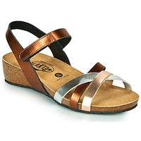 Παπούτσια Γυναίκα Σανδάλια / Πέδιλα Plakton NOTE Cuivré / Ροζ / Silver