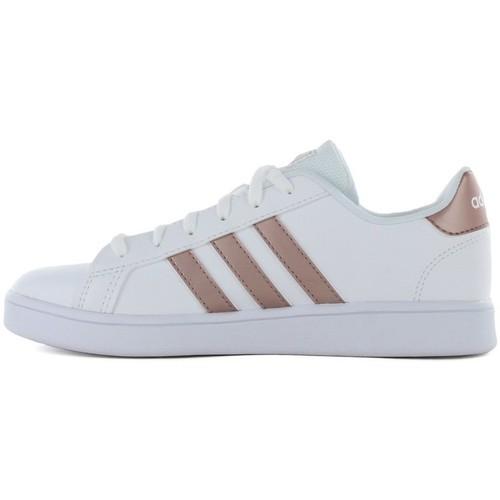 Παπούτσια Γυναίκα Χαμηλά Sneakers adidas Originals Grand court k EF0101 Άσπρο