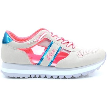 Xαμηλά Sneakers S.Oliver Off White Pink Flat Shoes [COMPOSITION_COMPLETE]