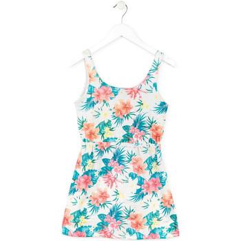 Υφασμάτινα Κορίτσι Κοντά Φορέματα Losan 714 7041AB λευκό