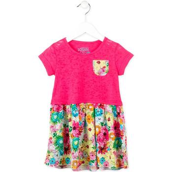 Υφασμάτινα Κορίτσι Κοντά Φορέματα Losan 716 7017AD Ροζ