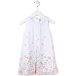 Υφασμάτινα Κορίτσι Κοντά Φορέματα Losan 716 7784AD λευκό