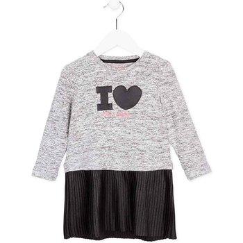 Υφασμάτινα Κορίτσι Κοντά Φορέματα Losan 726 7014AD Γκρί