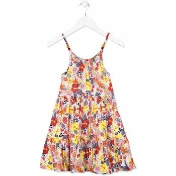 Υφασμάτινα Κορίτσι Κοντά Φορέματα Losan 814-7028AB Πορτοκάλι