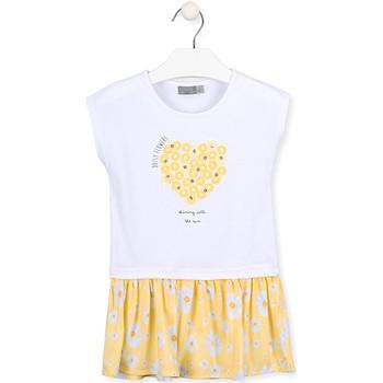 Υφασμάτινα Κορίτσι Κοντά Φορέματα Losan 016-7021AL λευκό