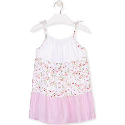 Υφασμάτινα Κορίτσι Κοντά Φορέματα Losan 016-7030AL λευκό