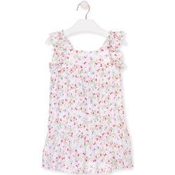 Υφασμάτινα Κορίτσι Κοντά Φορέματα Losan 016-7031AL λευκό