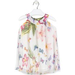 Υφασμάτινα Κορίτσι Κοντά Φορέματα Losan 016-7793AL λευκό