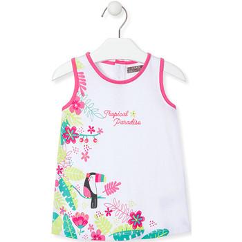Υφασμάτινα Κορίτσι Κοντά Φορέματα Losan 018-7005AL λευκό