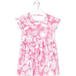 Υφασμάτινα Κορίτσι Κοντά Φορέματα Losan 018-7042AL Ροζ