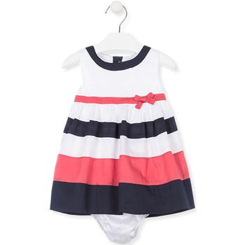 Υφασμάτινα Κορίτσι Κοντά Φορέματα Losan 018-7793AL λευκό