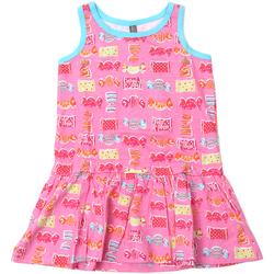 Υφασμάτινα Κορίτσι Κοντά Φορέματα Losan 816-7044AD Ροζ