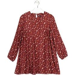 Υφασμάτινα Κορίτσι Κοντά Φορέματα Losan 024-7016AL το κόκκινο