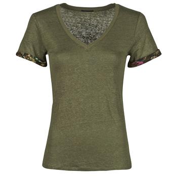 T-shirt με κοντά μανίκια Ikks BS10255-56 Σύνθεση: Λινό