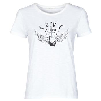 Υφασμάτινα Γυναίκα T-shirt με κοντά μανίκια Ikks BS10185-11 Ecru