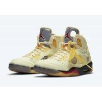 Παπούτσια Ψηλά Sneakers Nike Air Jordan 5 Off White Sail Sail/Fire Red-Muslin-Black