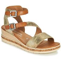 Παπούτσια Γυναίκα Σανδάλια / Πέδιλα Remonte Dorndorf BALANCE Gold / Brown