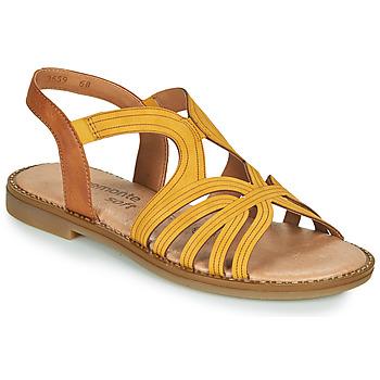Παπούτσια Γυναίκα Σανδάλια / Πέδιλα Remonte Dorndorf SANDA Yellow / Brown