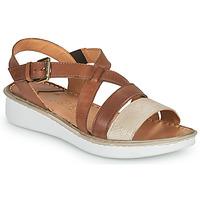 Παπούτσια Γυναίκα Σανδάλια / Πέδιλα Casual Attitude ODETTE Camel / Gold