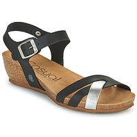 Παπούτσια Γυναίκα Σανδάλια / Πέδιλα Casual Attitude OYA Black / Silver