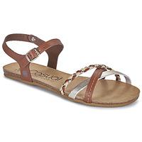 Παπούτσια Γυναίκα Σανδάλια / Πέδιλα Casual Attitude ODIA Camel / Gold