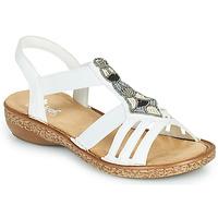 Παπούτσια Γυναίκα Σανδάλια / Πέδιλα Rieker DOLNA Άσπρο