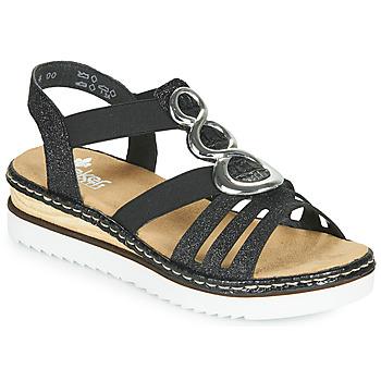 Παπούτσια Γυναίκα Σανδάλια / Πέδιλα Rieker FANNI Μπλέ