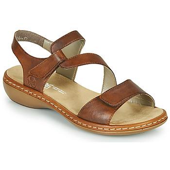 Παπούτσια Γυναίκα Σανδάλια / Πέδιλα Rieker ZAZIE Brown