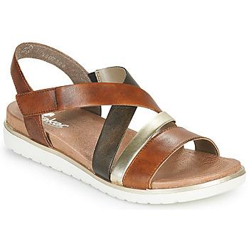 Παπούτσια Γυναίκα Σανδάλια / Πέδιλα Rieker MARRO Brown / Silver