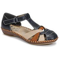 Παπούτσια Γυναίκα Σανδάλια / Πέδιλα Rieker BLUE Μπλέ / Brown