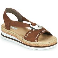Παπούτσια Γυναίκα Σανδάλια / Πέδιλα Rieker FARRO Brown