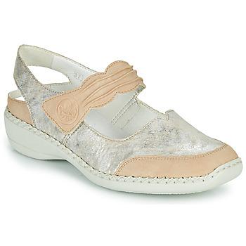 Παπούτσια Γυναίκα Σανδάλια / Πέδιλα Rieker ALINA Silver