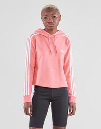 Υφασμάτινα Γυναίκα Φούτερ adidas Performance W 3S FT CRO HD Ροζ