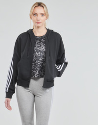 Υφασμάτινα Γυναίκα Σπορ Ζακέτες adidas Performance W 3S FZ HD Black