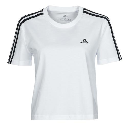 Υφασμάτινα Γυναίκα T-shirt με κοντά μανίκια adidas Performance W 3S CRO T Άσπρο