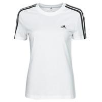 Υφασμάτινα Γυναίκα T-shirt με κοντά μανίκια adidas Performance W 3S T Άσπρο