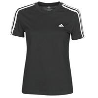 Υφασμάτινα Γυναίκα T-shirt με κοντά μανίκια adidas Performance W 3S T Black