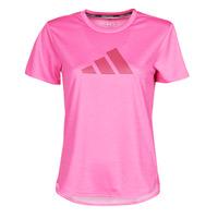 Υφασμάτινα Γυναίκα T-shirt με κοντά μανίκια adidas Performance BOS LOGO TEE Ροζ