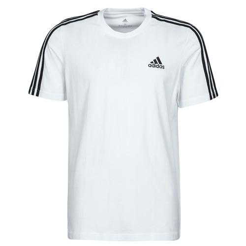 Υφασμάτινα Άνδρας T-shirt με κοντά μανίκια adidas Performance M 3S SJ T Άσπρο