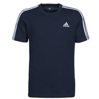 Υφασμάτινα Άνδρας T-shirt με κοντά μανίκια adidas Performance M 3S SJ T Μπλέ