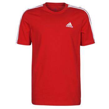 Υφασμάτινα Άνδρας T-shirt με κοντά μανίκια adidas Performance M 3S SJ T Red