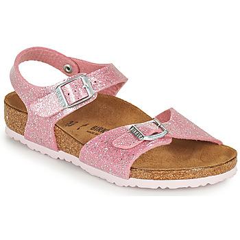 Παπούτσια Κορίτσι Σανδάλια / Πέδιλα Birkenstock RIO PLAIN Ροζ