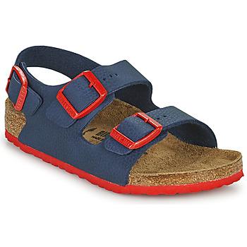 Παπούτσια Αγόρι Σανδάλια / Πέδιλα Birkenstock MILANO Μπλέ / Red