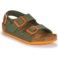 Παπούτσια Αγόρι Σανδάλια / Πέδιλα Birkenstock MILANO Kaki / Orange