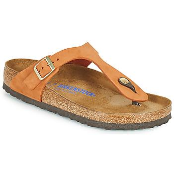 Παπούτσια Γυναίκα Σαγιονάρες Birkenstock GIZEH SFB Orange