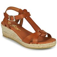 Παπούτσια Γυναίκα Σανδάλια / Πέδιλα Betty London OBORSEL Cognac