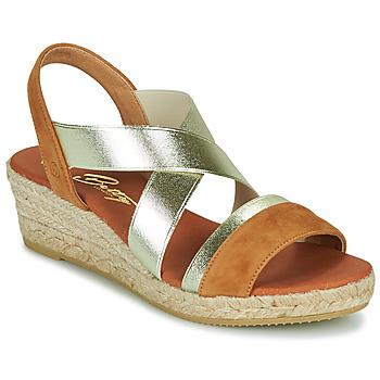 Παπούτσια Γυναίκα Σανδάλια / Πέδιλα Betty London OLINDRE Cognac